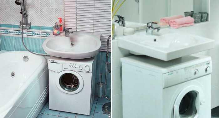 Плюсы и минусы установки раковины над стиральной машиной