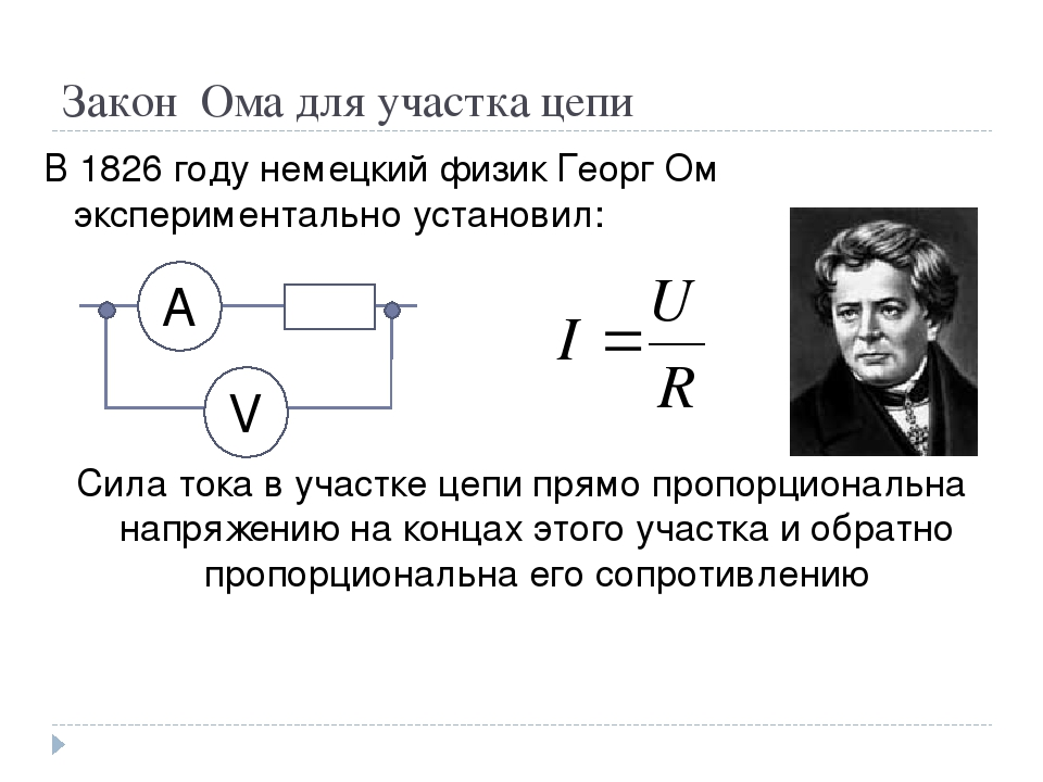 Закон ома для полной цепи: формула для расчета
