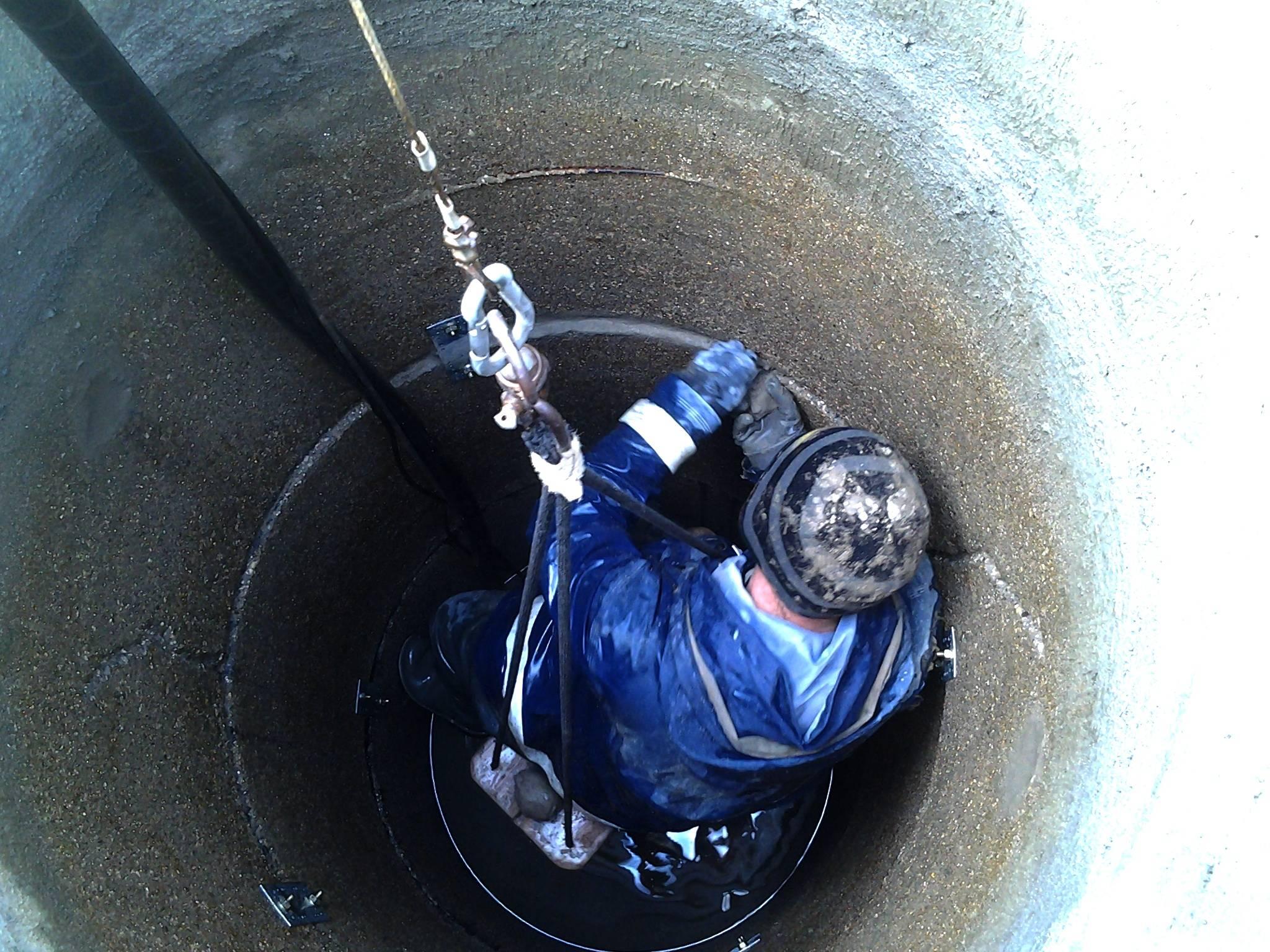 Очистка канализационных колодцев: чистка, откачка, промывка
