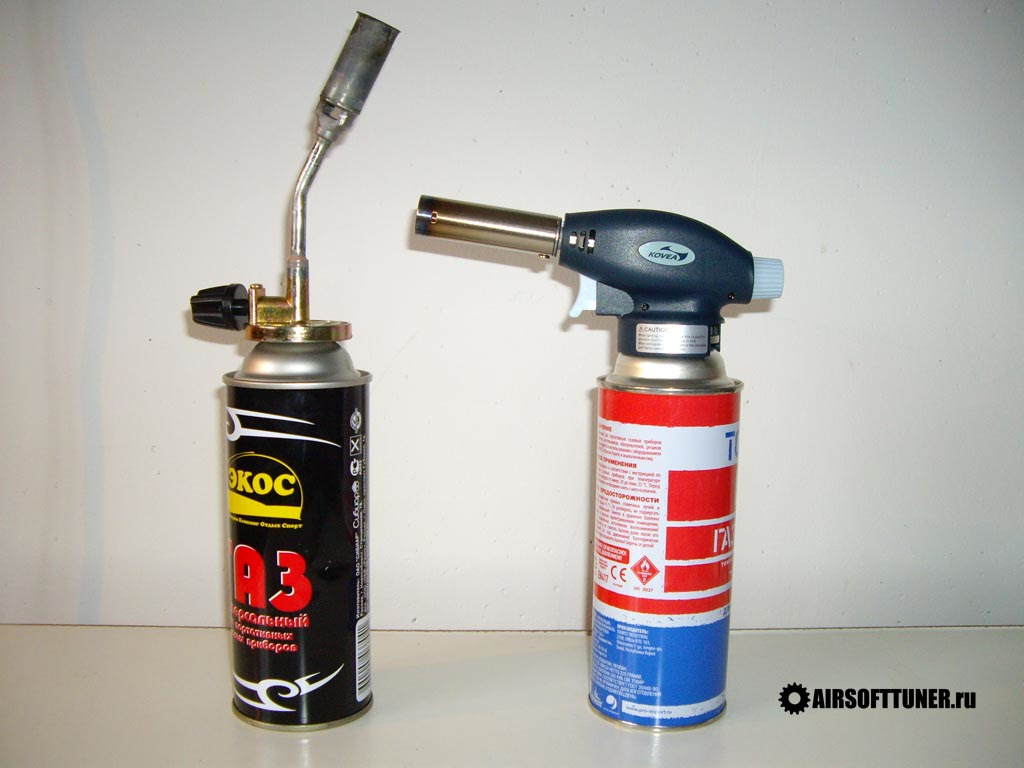 Газовая горелка на баллончик с пьезоподжигом, туристическая и портативная горелка