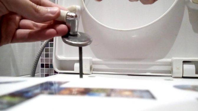 Как снять сиденье с унитаза, чтобы почистить