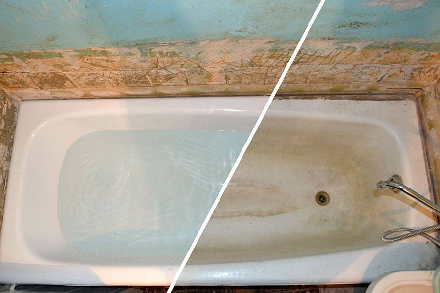 Различные способы реставрации старой чугунной ванны, самостоятельное восстановление эмали, практические советы + видео