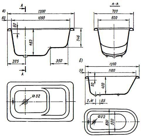 Маленькие ванны для маленьких ванных комнат - все о канализации