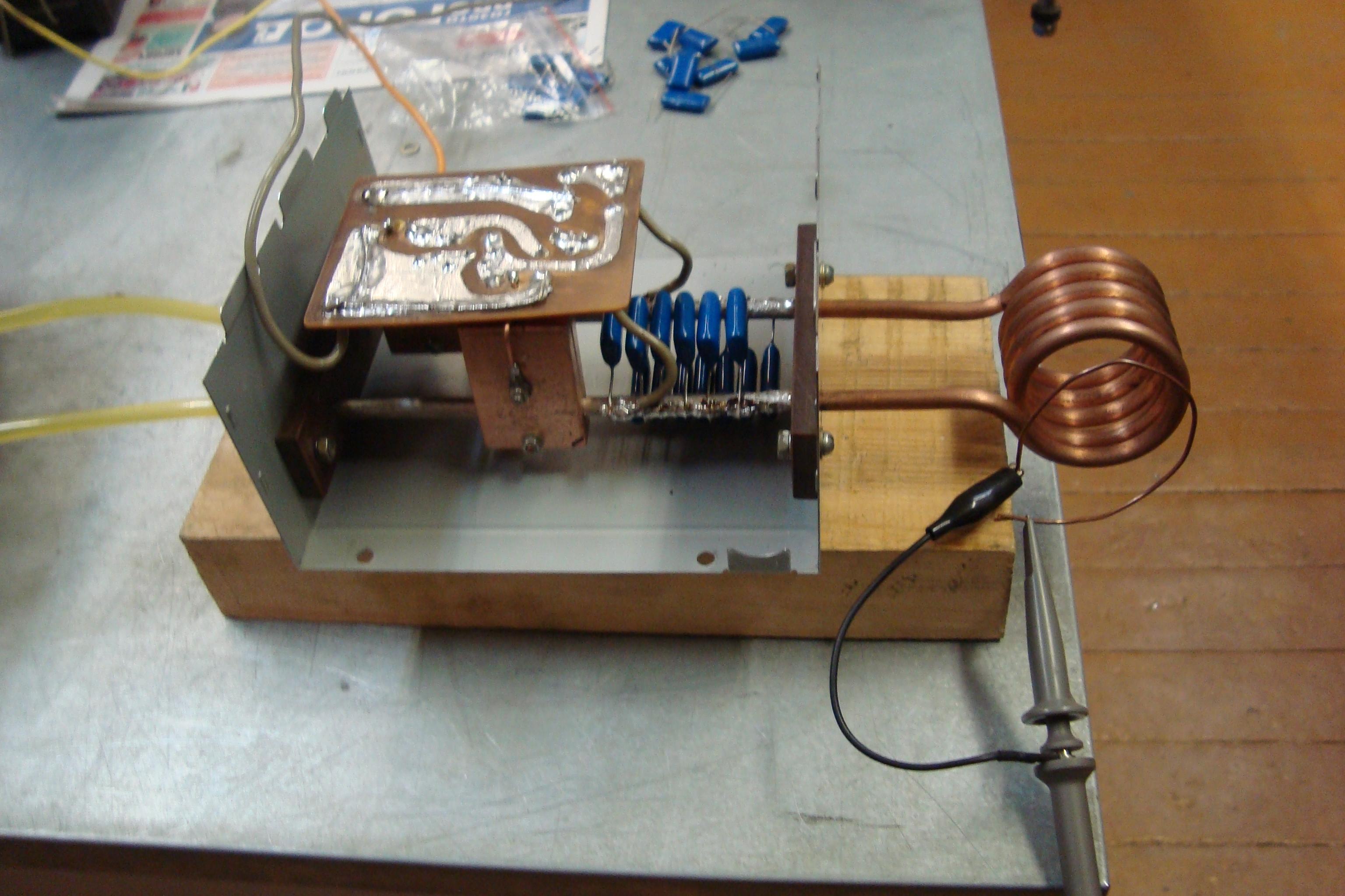 Индукционный нагреватель из сварочного инвертора, сделанный своими руками