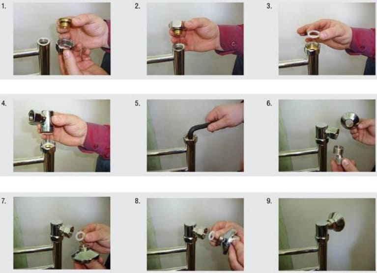 Установка полотенцесушителя в ванной своими руками: инструкция, монтаж и видео