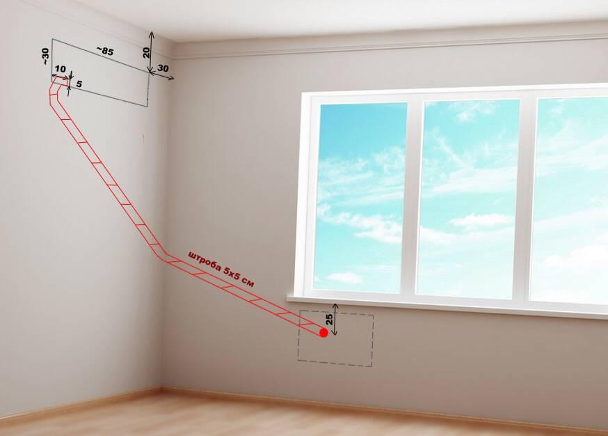 Установка кондиционера в коридоре: правила выбора оптимального места под кондиционер