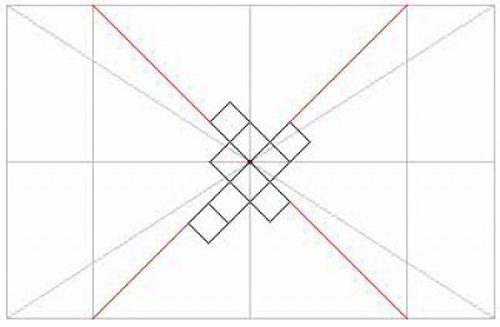 Схема как правильно клеить потолочную плитку по диагонали