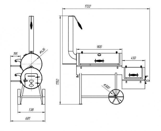 Как сделать мангал из газового баллона своими руками: фото, чертежи и видео