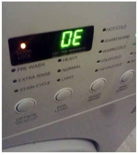 Ошибка 6е в стиральной машине самсунг (samsung): что это означает, как исправить неполадку, когда нужен вызов мастера?