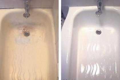 Восстановление эмали ванны: чем заделать скол эмали и другие повреждения на ванной