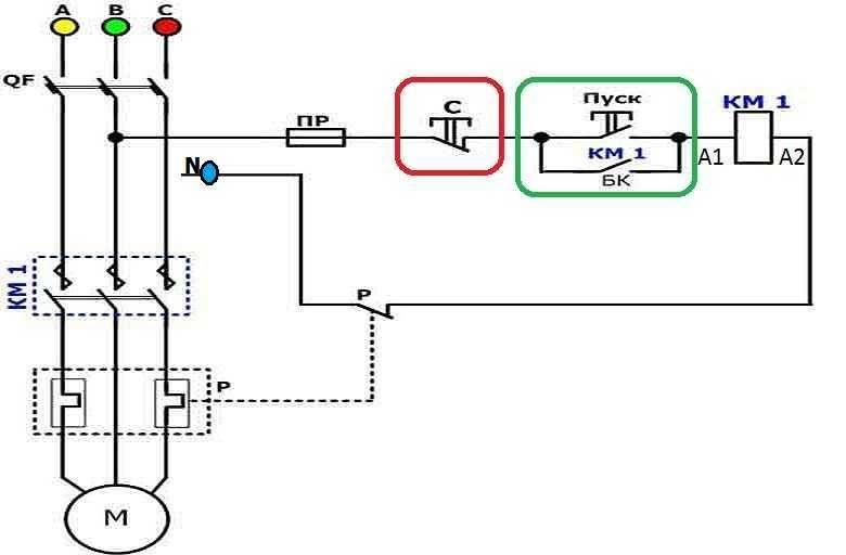 Схема подключения контактора 380в - всё о электрике