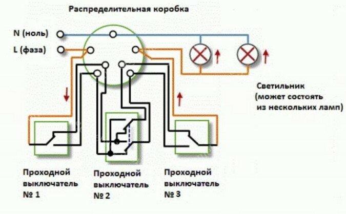 Промежуточный выключатель схема подключения - всё о электрике в доме