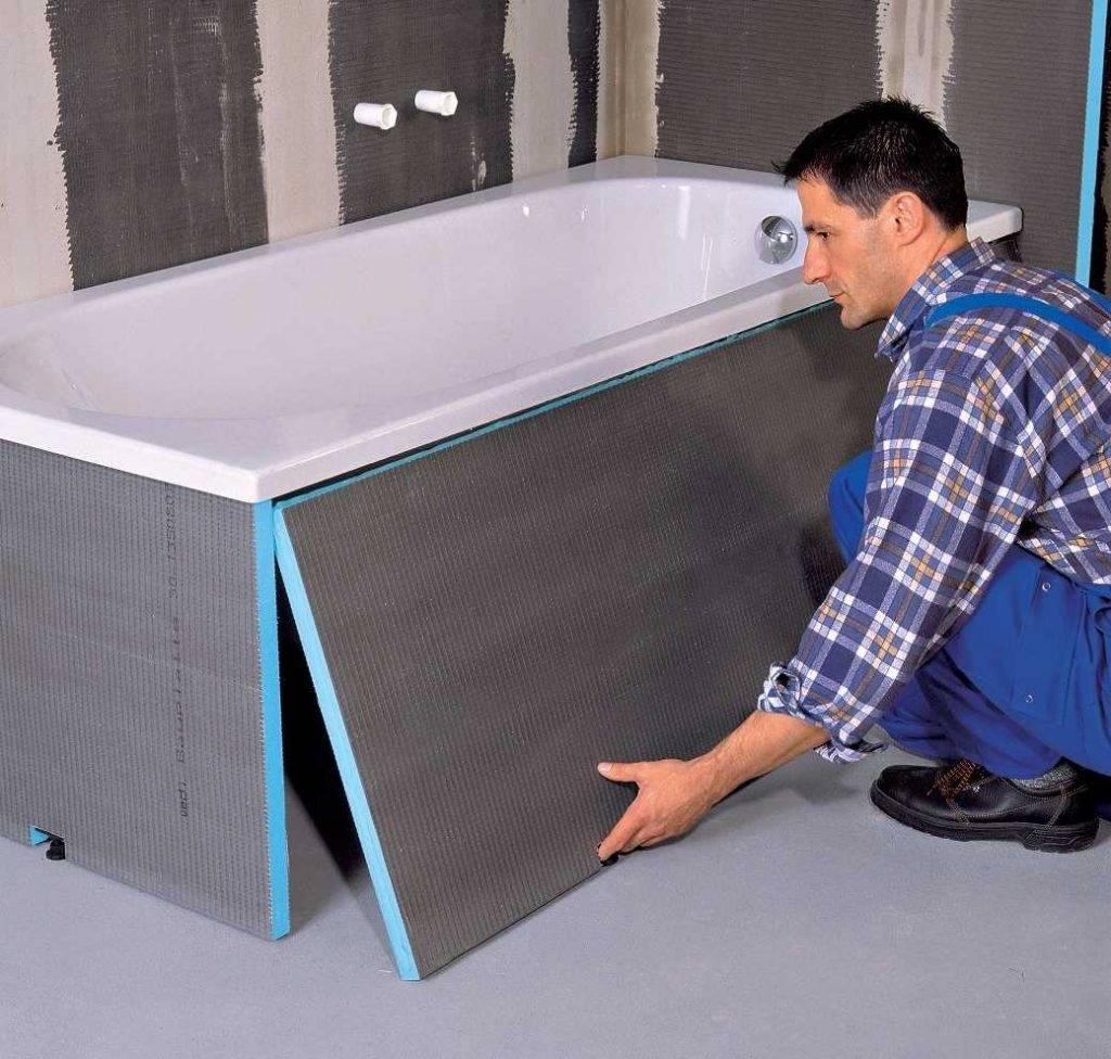 Экран под ванну своими руками: из чего сделать и как установить
