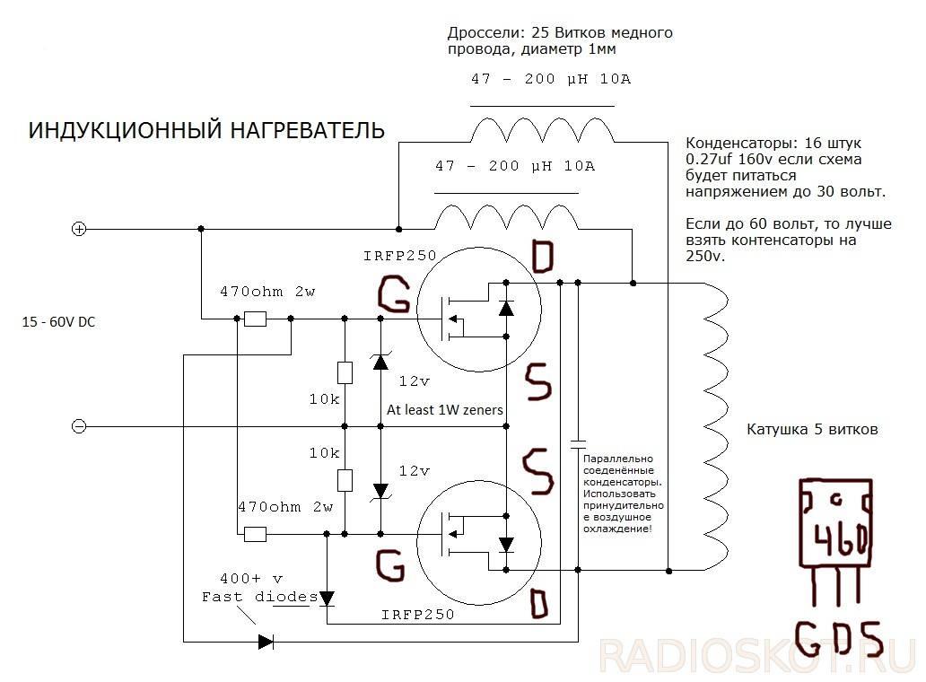 Индукционный нагреватель своими руками из сварки | все станки
