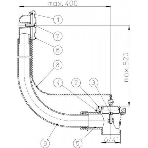 Разновидности и установка сифонов для душевой кабины