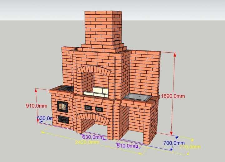 Барбекю своими руками: проектирование, варианты кладки и советы как построить барбекю (155 фото)