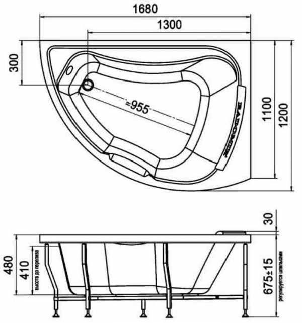 Размеры ванн (48 фото): параметры стандартных и маленьких вариантов, 170х70 и 120х70, евромодели 150х70 и 140х70, акриловые изделия 180х80
