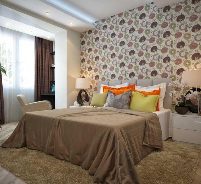 Обои для спальни: фото в интерьере - для маленьких комнат есть решение!