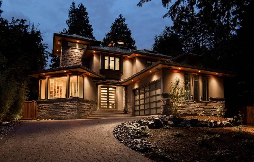 Особенности декоративного освещения загородного дома. декоративное освещение загородного дома освещение в частном доме