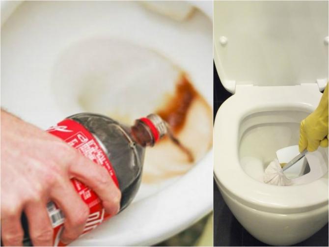 Как очистить унитаз кока колой