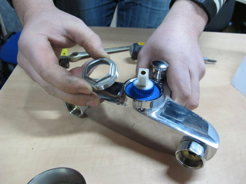 Ремонт однорычажного смесителя для кухни своими руками – с картриджем и шарового
