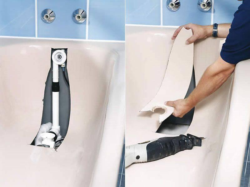 Восстанавливаем сантехнику, или как установить акриловый вкладыш в ванну | дом гвоздем