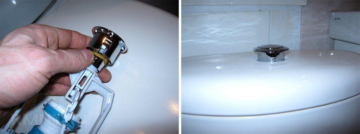 Не работает кнопка в унитазе: как починить сливной бачок с кнопкой своими руками
