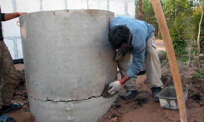 Гидропломба для колодца: технология заделки щелей в бетонном основании