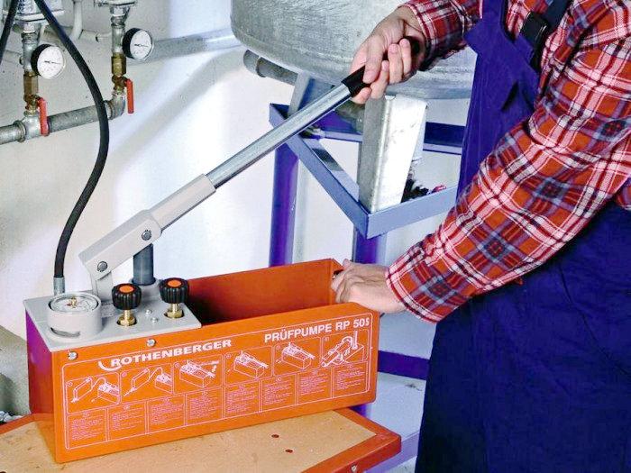 Промывка и опрессовка систем отопления