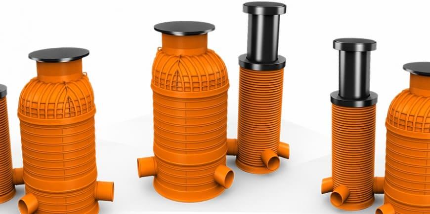 Пластиковые канализационные колодцы: обзор полиэтиленовых и полимерных видов - точка j