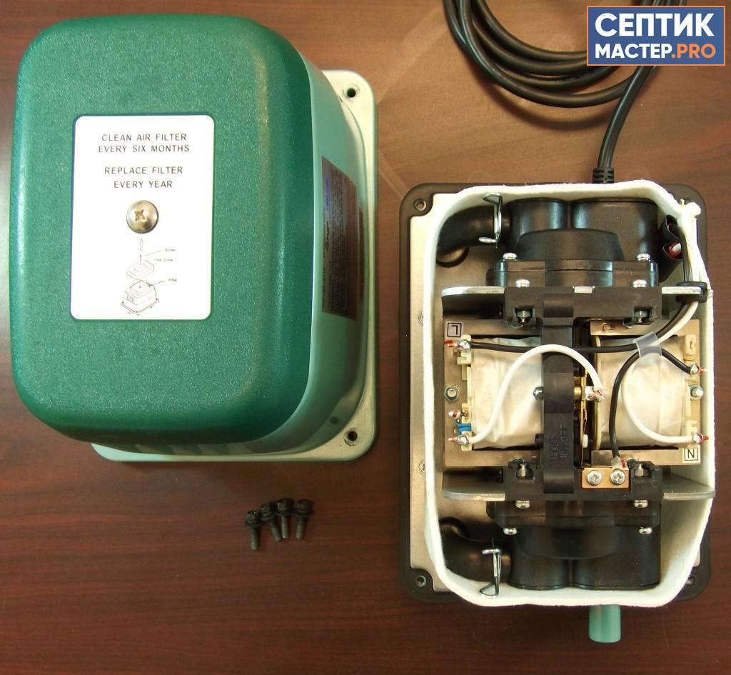 Компрессор для септика: назначение, как выбрать, установка и ремонт