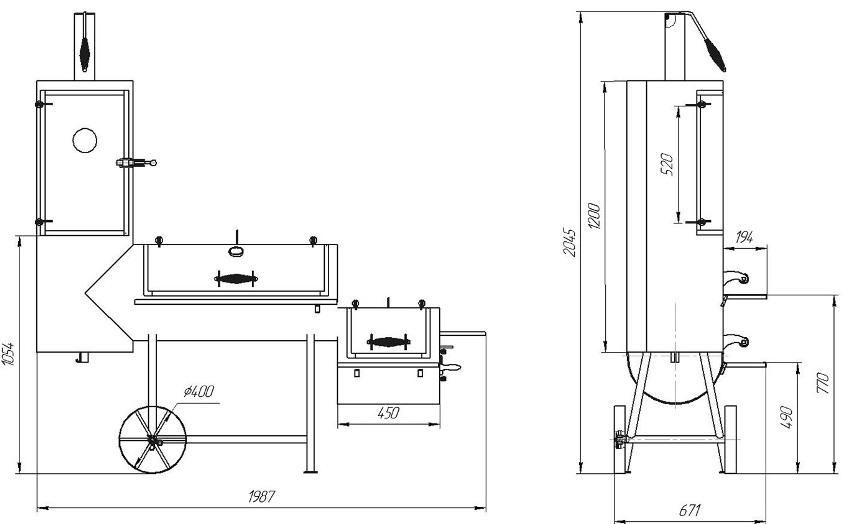 Мангал из газового баллона (78 фото): как сделать своими руками, чертежи и изготовление барбекю из пропанового баллона