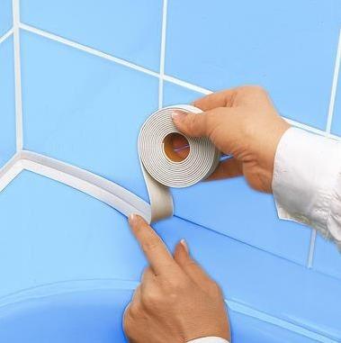 Как клеить бордюр для ванны