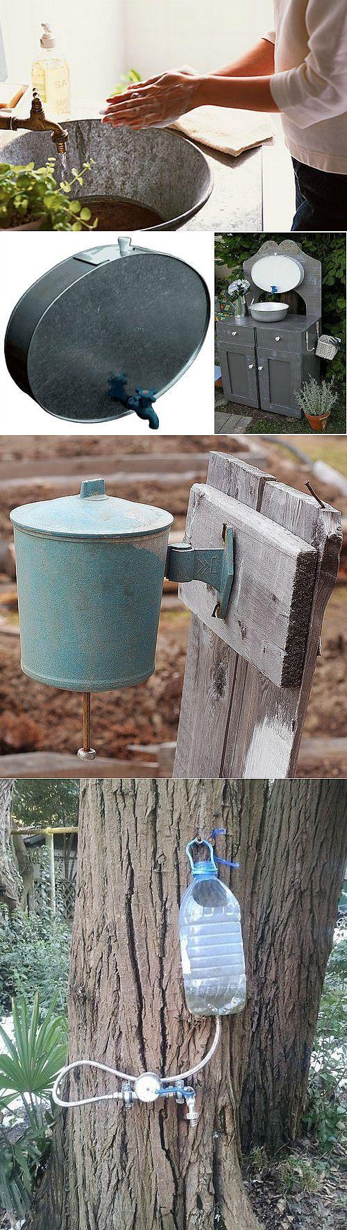 Уличный умывальник для дачи и сада: выбираем готовый или делаем своими руками   строительный блог вити петрова