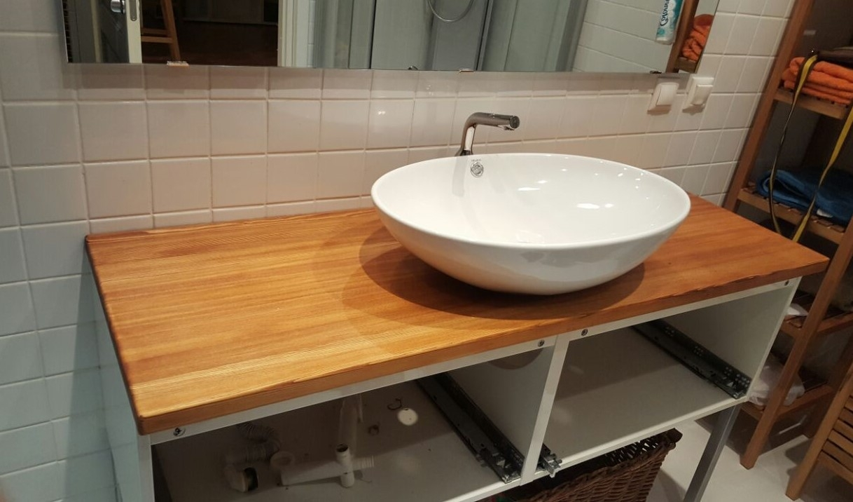 Накладная раковина на столешницу — украшение ванной комнаты