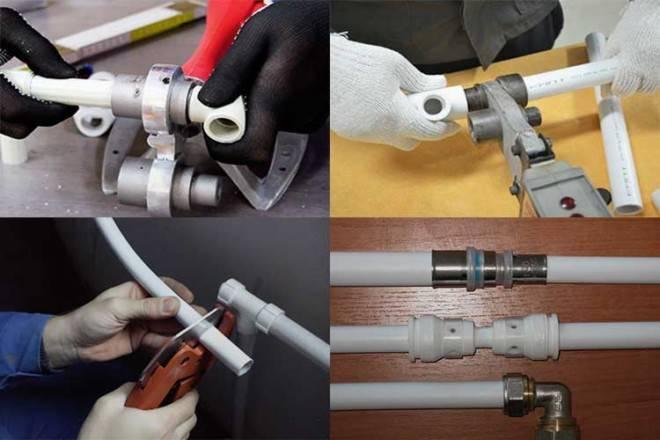Монтаж водопровода из полипропиленовых труб: типовые схемы разводки + монтажные особенности