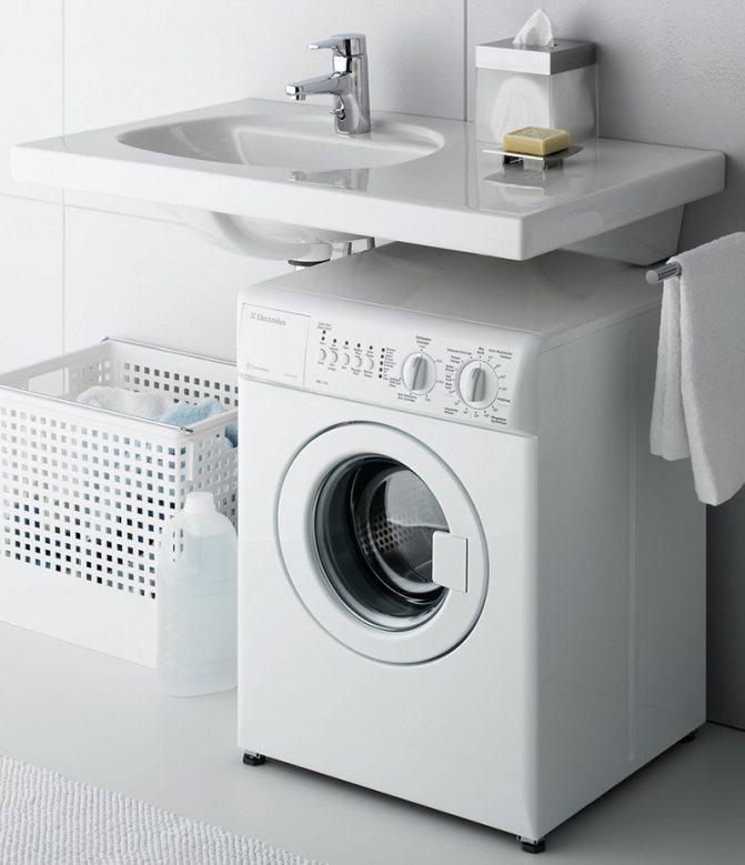 Раковина над стиральной машиной: особенности установки