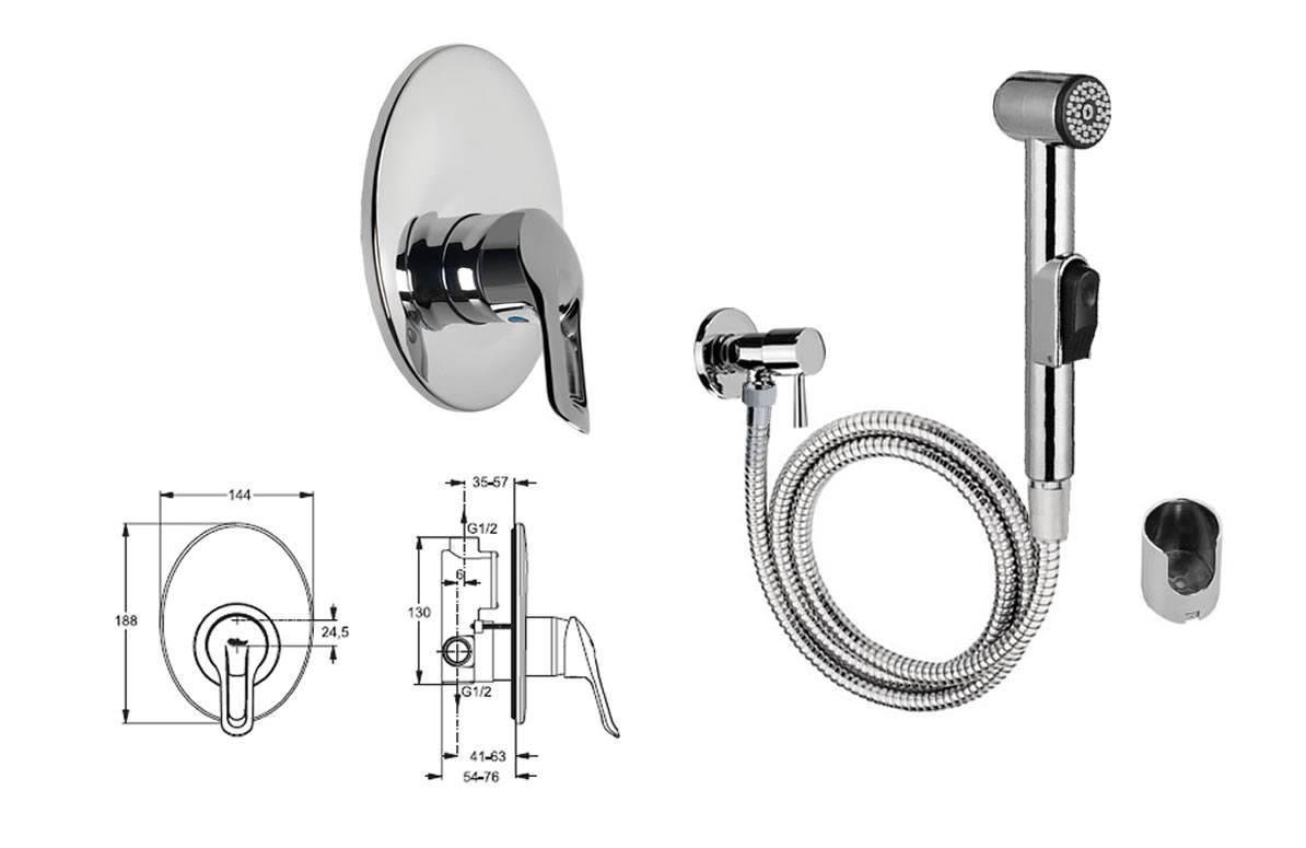 Как установить гигиенический душ в туалете