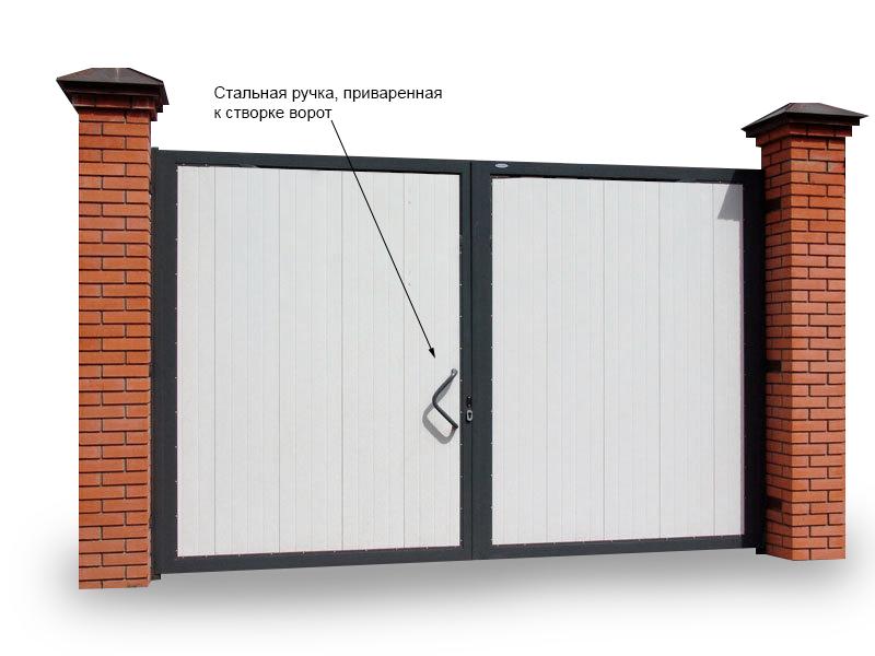 Ворота с калиткой: варианты конструкций
