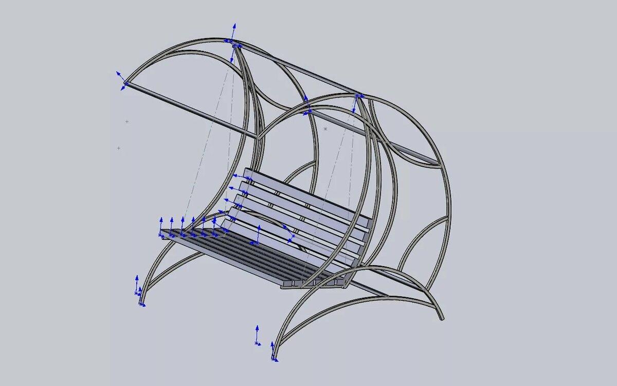 Как сделать садовые качели из металла своими руками: чертежи, фото, видео