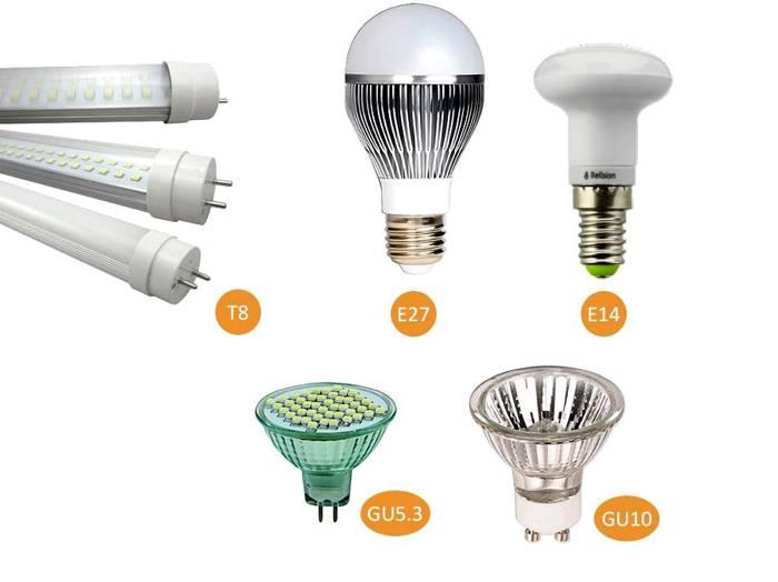 Обзор основных типов ламп: какие виды лампочек бывают + как выбрать лучшую - точка j