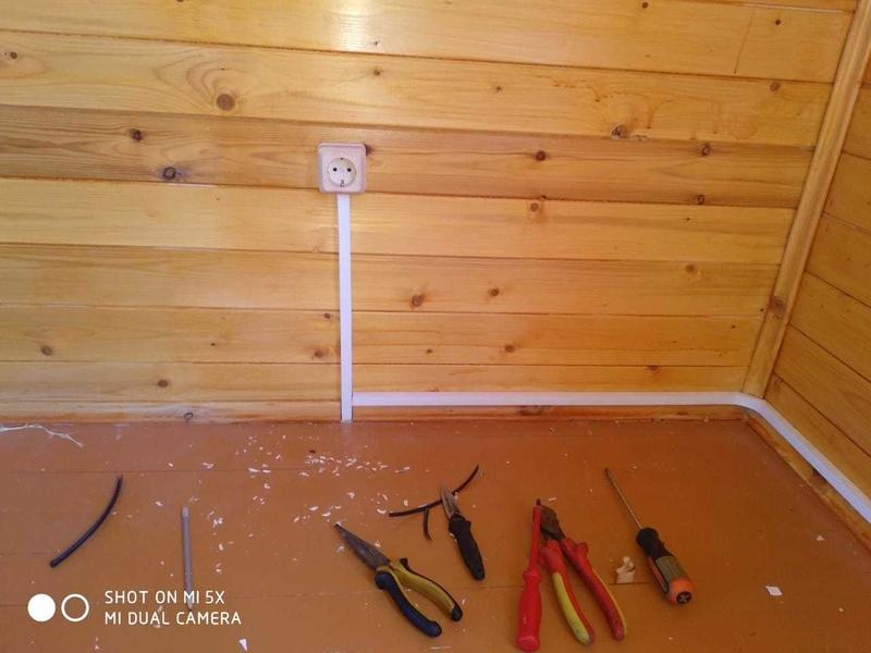 Правила монтажа открытой электропроводки
