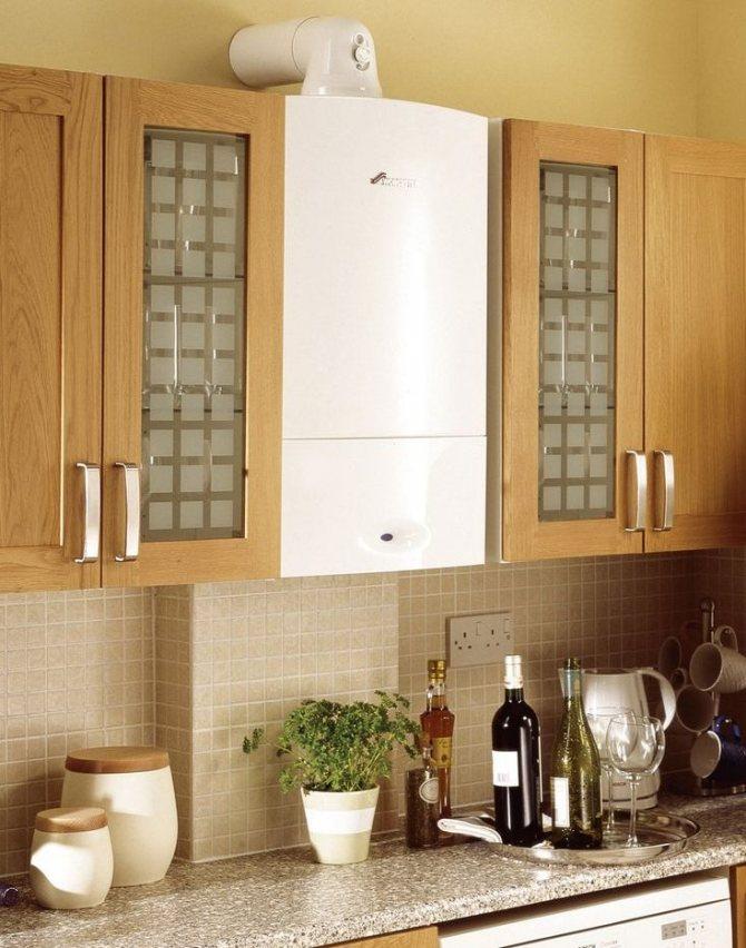 Как спрятать газовую трубу на кухне: варианты