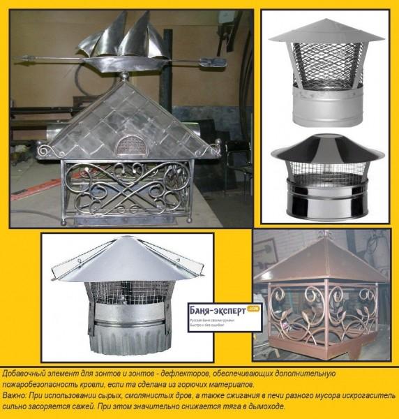 Искрогаситель на дымоход: виды и изготовление своими силами
