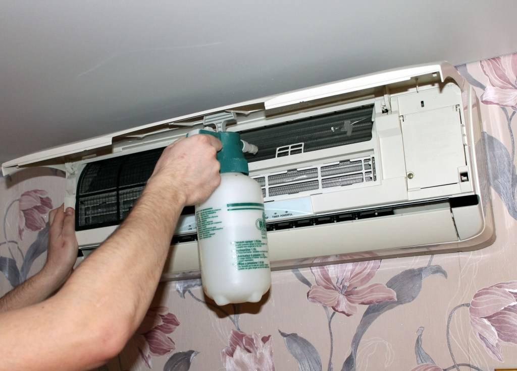 Как самостоятельно почистить и помыть кондиционер в домашних условиях