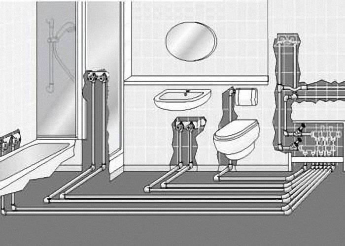 Разводка водопровода в квартире — схемы, особенности, советы