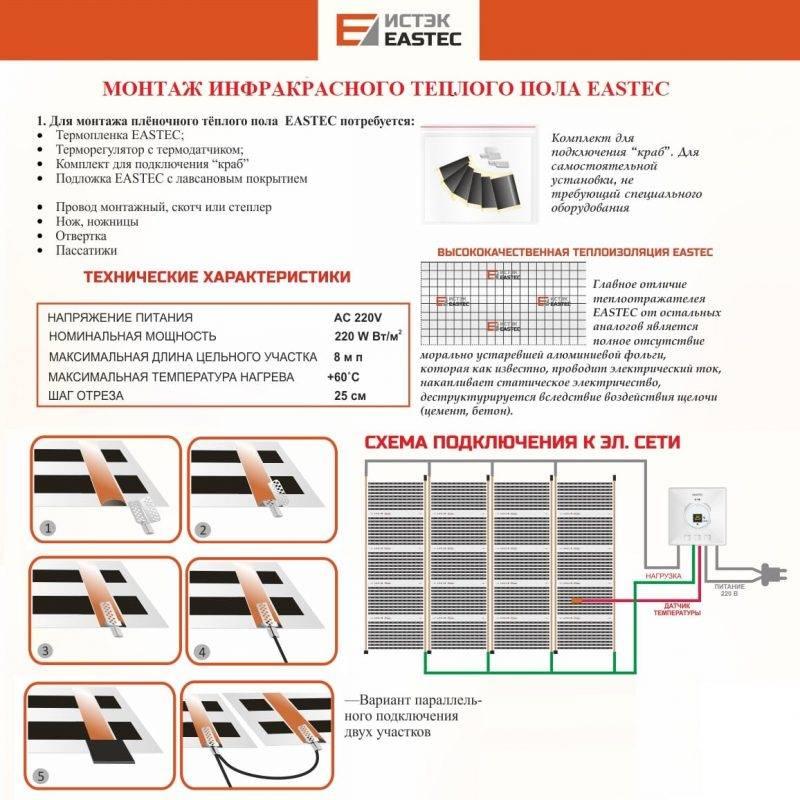 Руководство по монтажу электрического теплого пола под линолеум - точка j