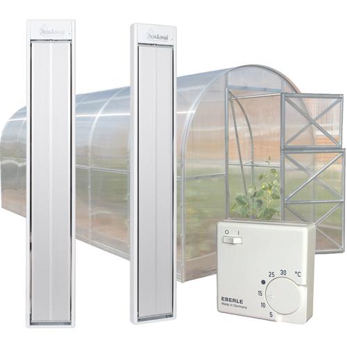 Инфракрасный электрообогреватель для теплицы из поликарбоната