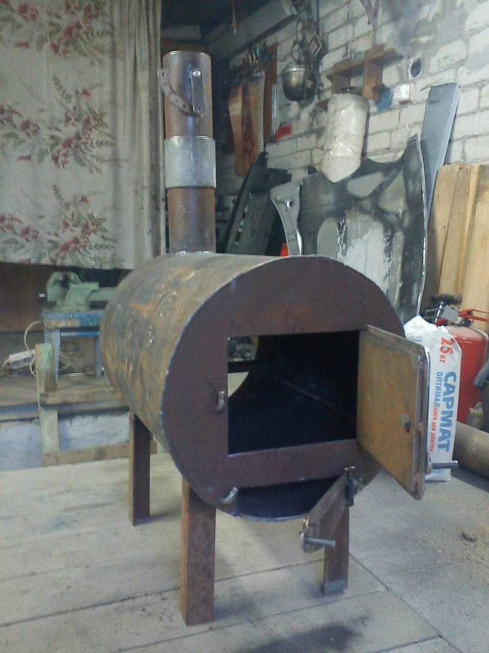 Печь для гаража длительного горения - лучшие идеи, мастер-класс!