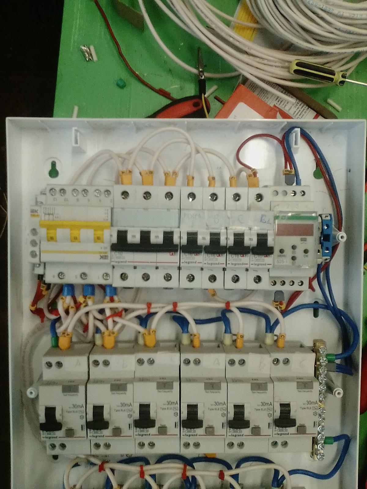 Сборка электрощитка своими руками 380 в